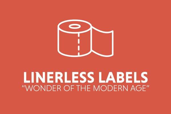 Linerless labels reduce approximately 30% of packaging waste to landfill